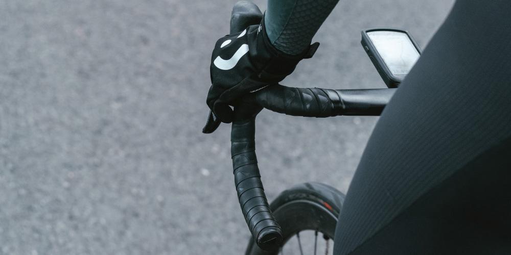 Billede af cykel med vintercykeldæk